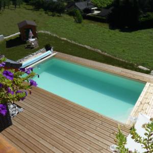 piscine 4x8m fond évolutif